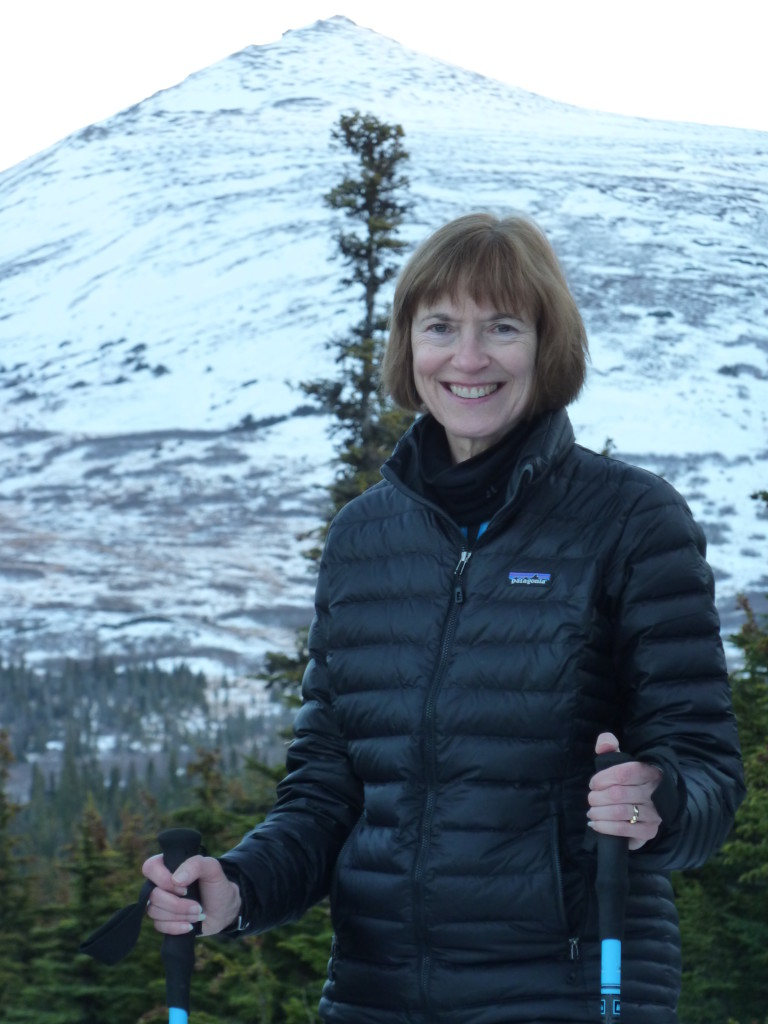 Author Susan Pope Hiking in Alaska